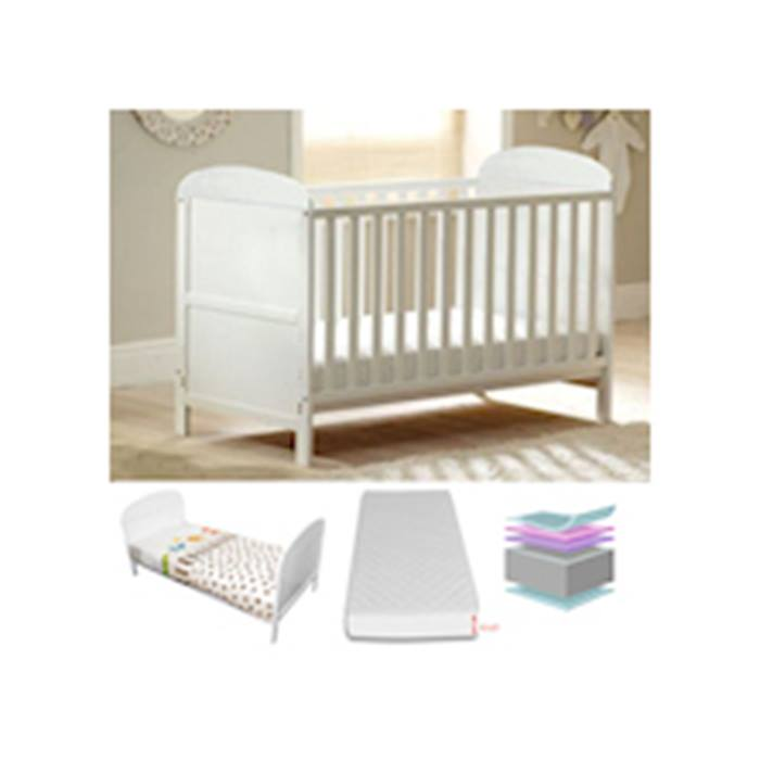 4baby-jupiter-cot-bed-with-fibre-mattress-white-circular