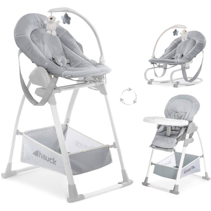 Hauck Sit n Relax 3 in 1 Highchair (Stretch Grey)