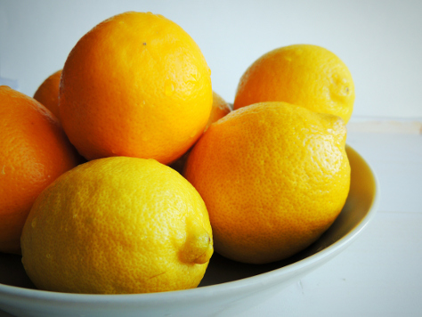 Bowl of oranges and lemons