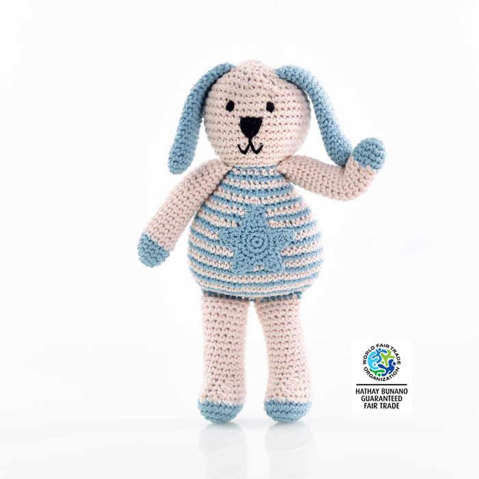 motif blue bunny