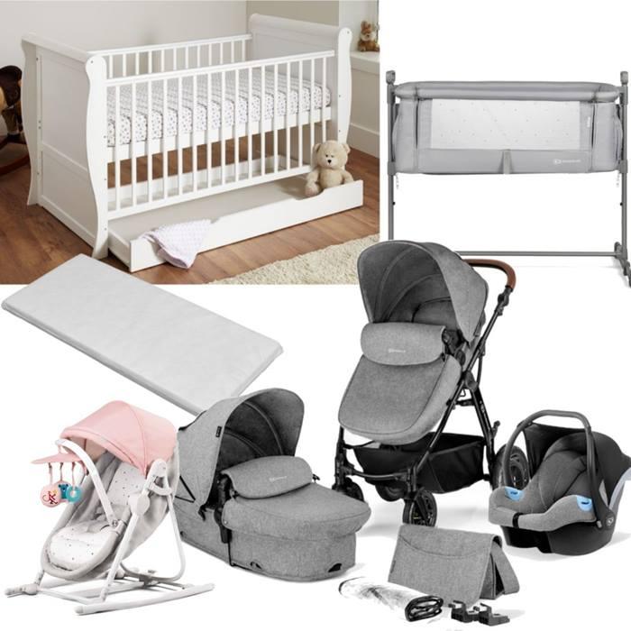 Kinderkraft Moov Sleigh Cot Bed Bundle