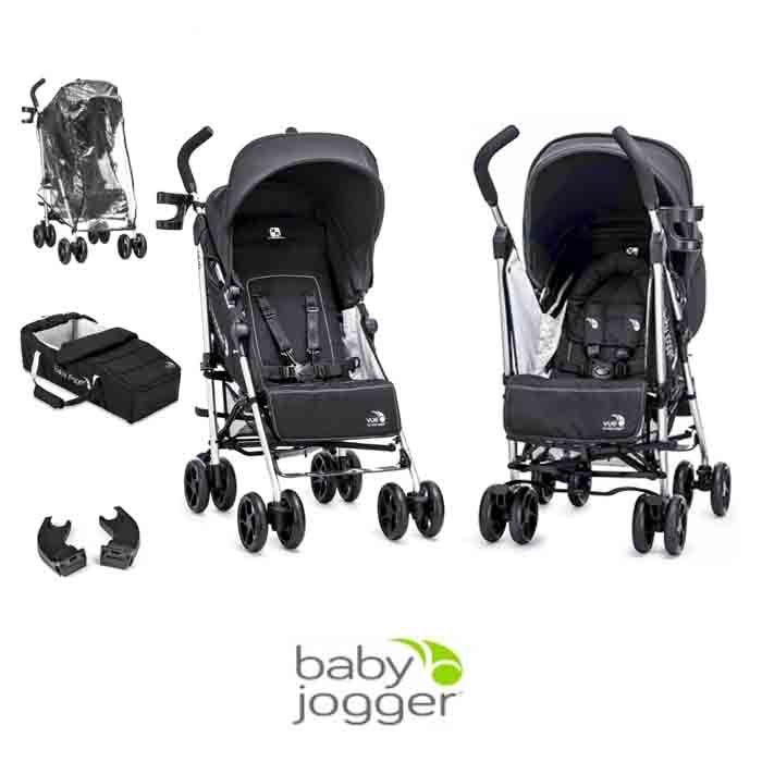 Baby Jogger Vue Pushchair with Carrycot and Raincover