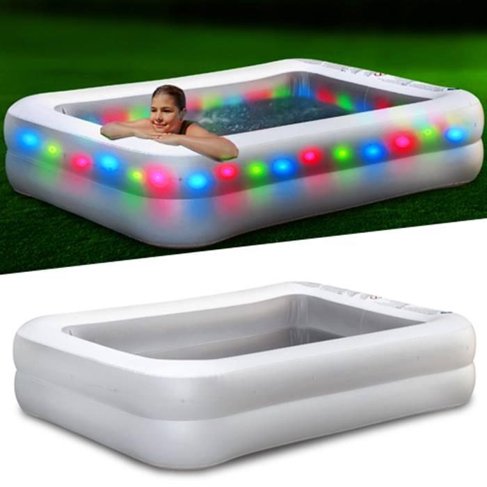 6.5ft 'Disco' Paddling Pool - Light-Up LEDs!