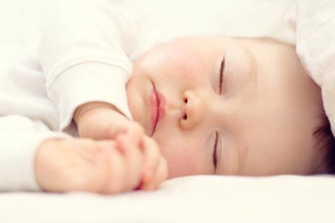 close up baby asleep