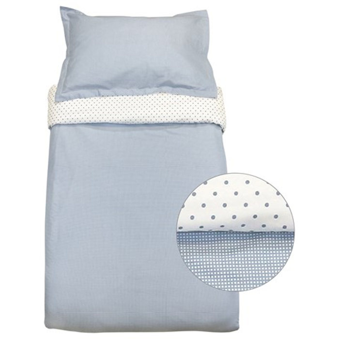 Gingham Bed Set Blue