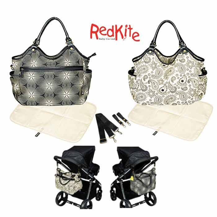 Red Kite Slouch / Changing Bag (With Changing Mat)