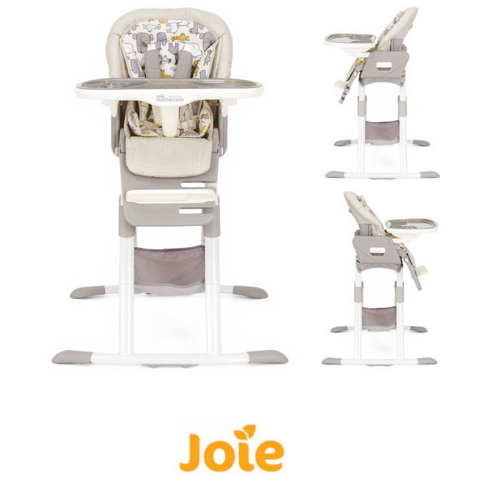 Joie Mothercare Mimzy Whirl Spin 360 Rotating Highchair - Urban Safari