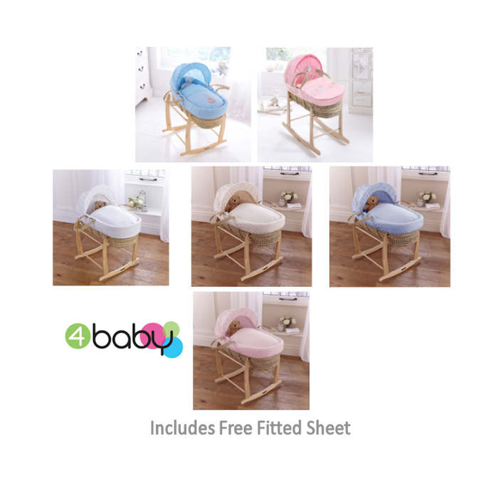 4baby Palm Moses Basket  Stand  Sheet  dimple tippy