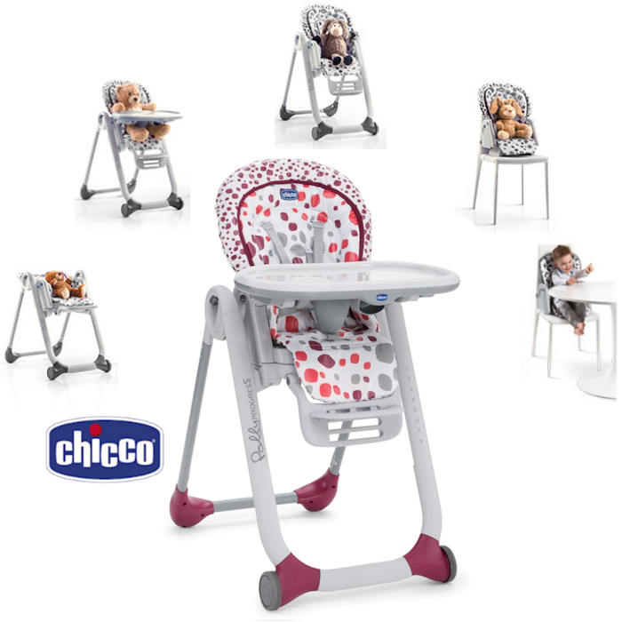 Chicco Luxury Polly Progres5 3 in 1 Highchair - cherry