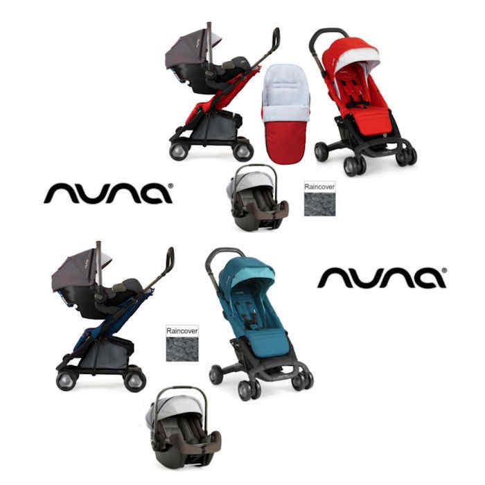 Nuna Pepp Luxx Travel System - sand car seat