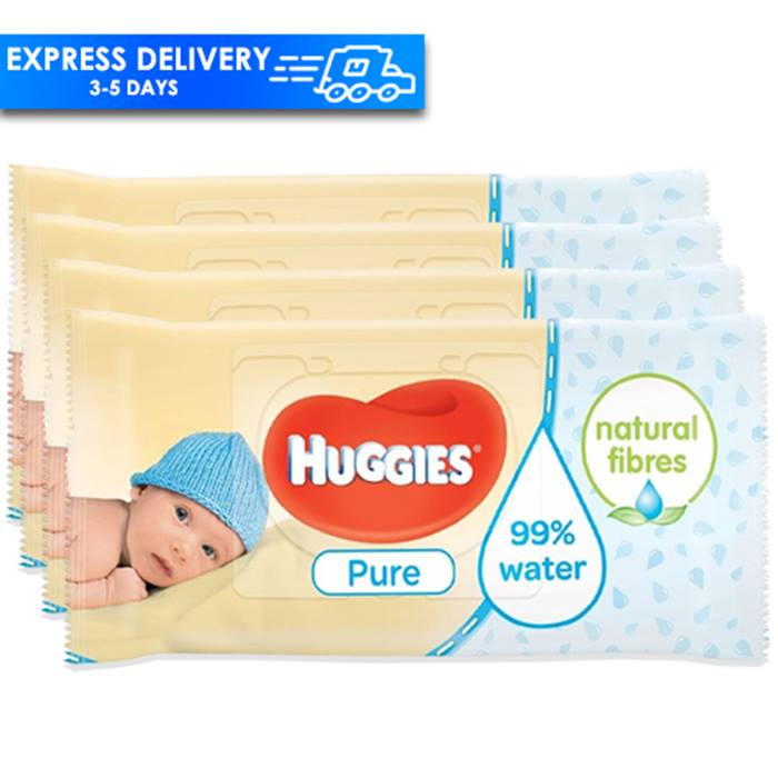 18-Packs of Huggies Pure & Gentle Wipes - 1008 Wipes