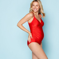 Debenhams red swimsuit