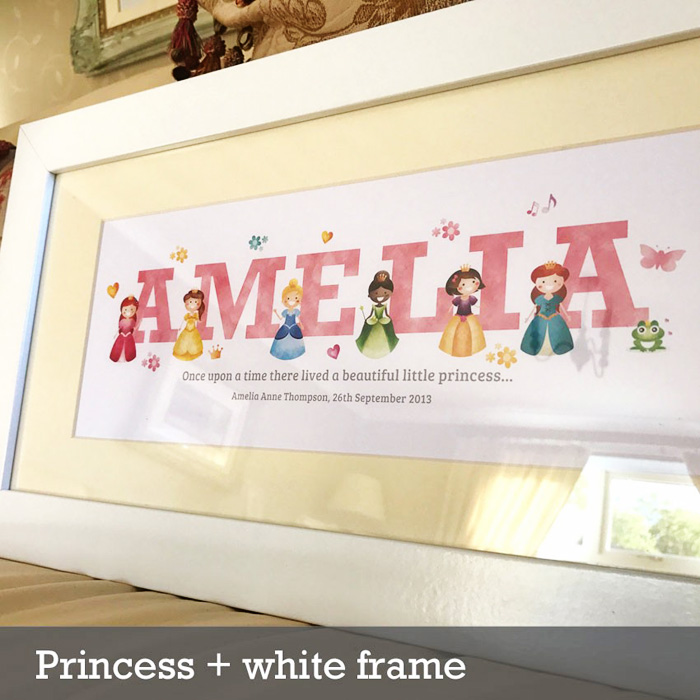 2 Princess frame white