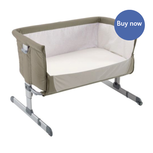 moses basket attached to bed