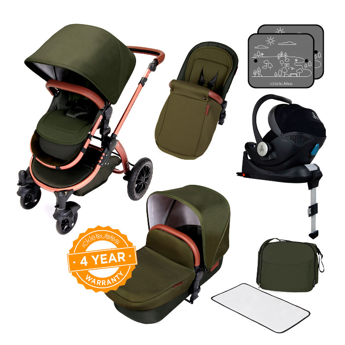 £100 off Stomp V4 i-Size Travel System with Isofix Base