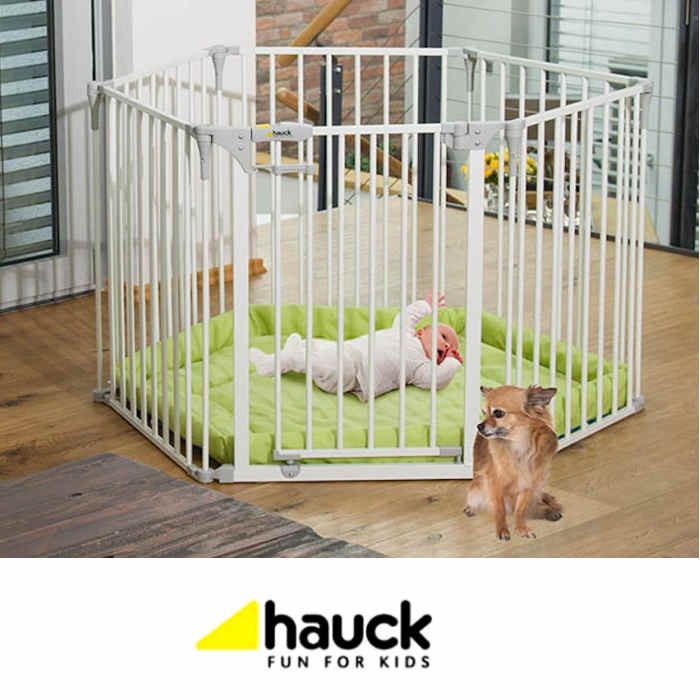 Hauck Baby Park Stair Safety Gate / Playpen - White
