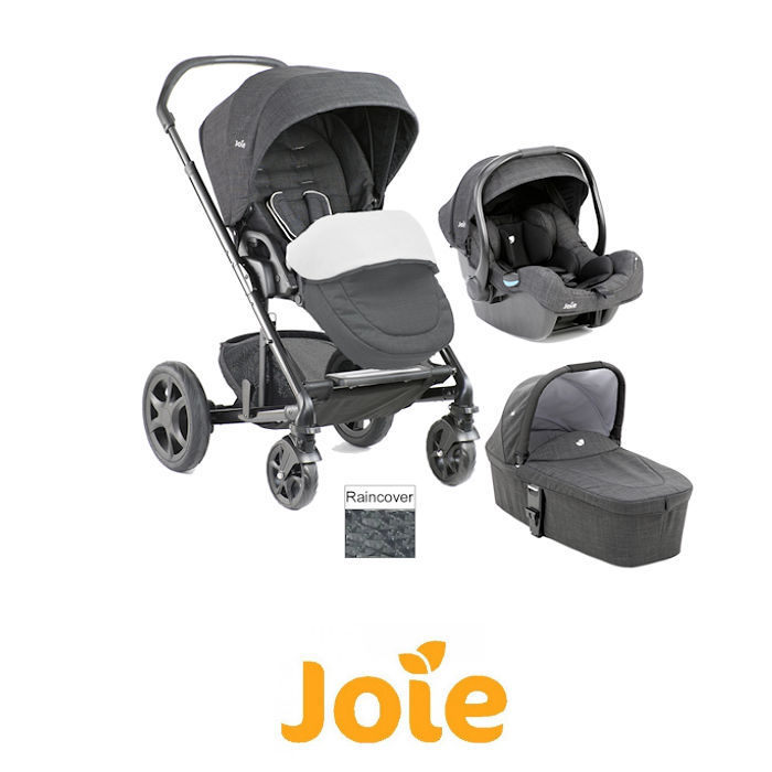Joie Chrome DLX Travel System  Carrycot  Footmuff