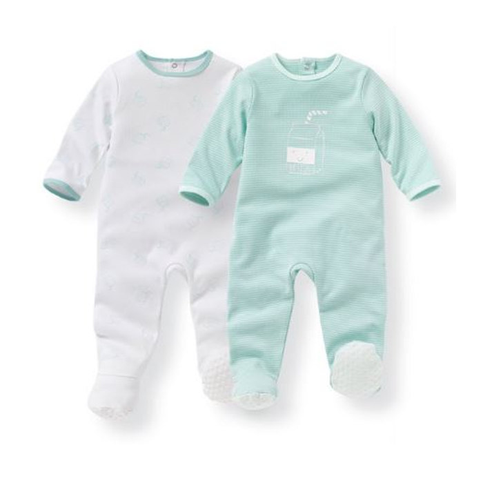 Pack of 2 Cotton Sleepsuits