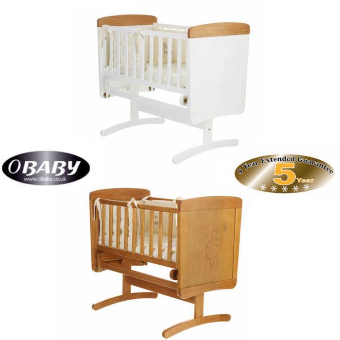 Obaby B Is For Bear Gliding Crib  Foam Mattres