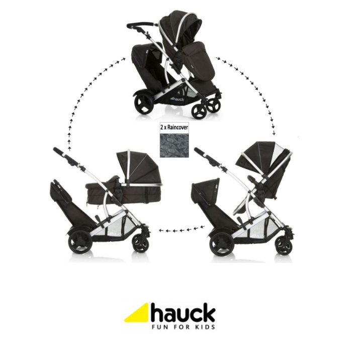 Hauck Duett 2 Tandem Pushchair - Black
