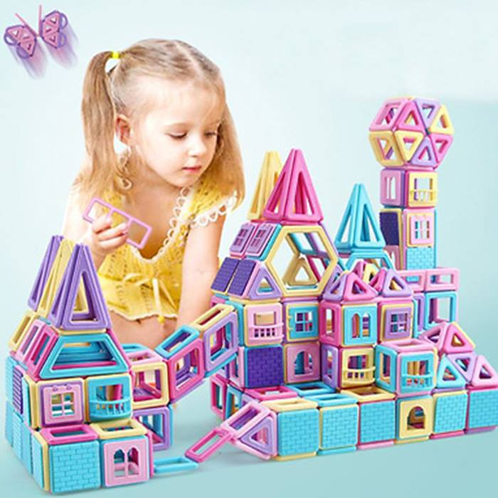 Kids' Magnetic Building Blocks - 62 or 118 Pieces