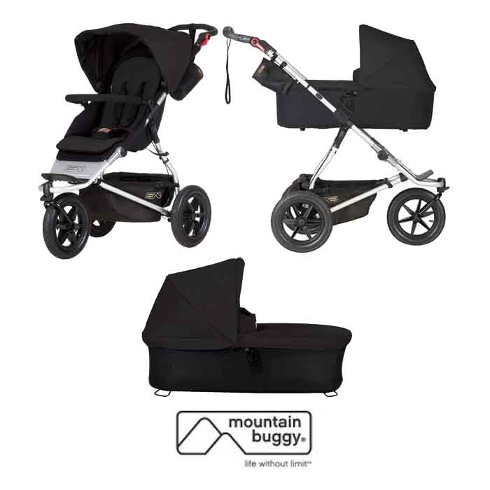 Mountain Buggy Urban Jungle Pushchair With Urban Jungle / Terrain / +One Carrycot Plus