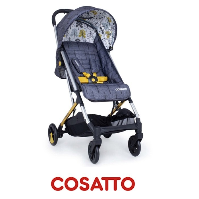 Cosatto Yay Woosh Compact Stroller With Raincover - Grey Fika Forest