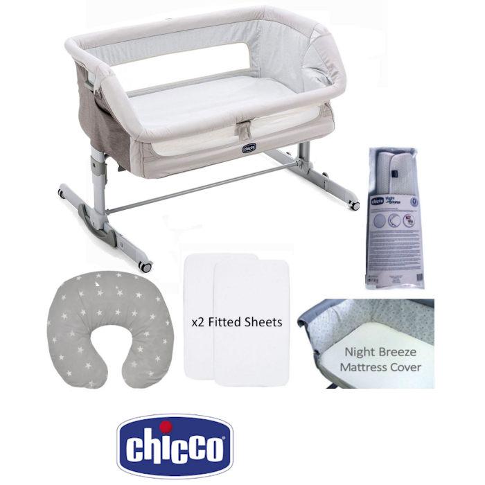 Chicco 5 Piece Next 2 Me Dream Crib Nursery Bundle