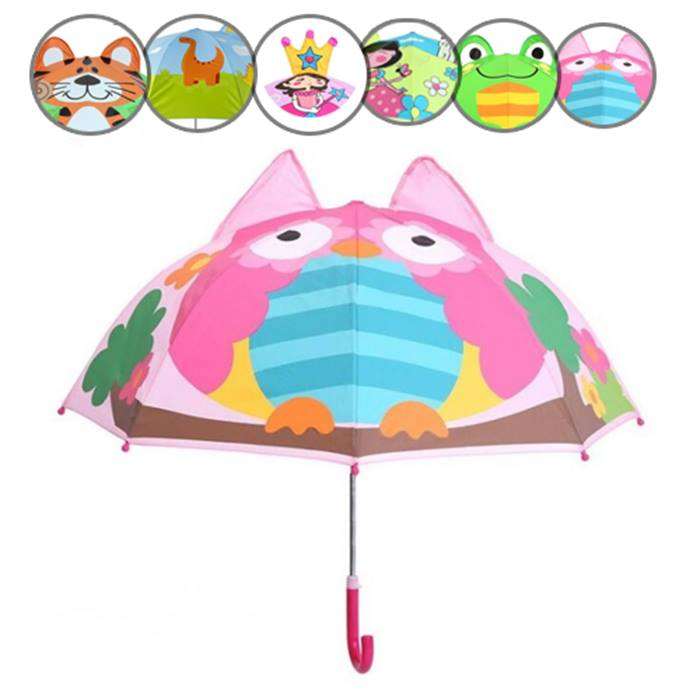 Kids' Cartoon Umbrella - 6 Designs