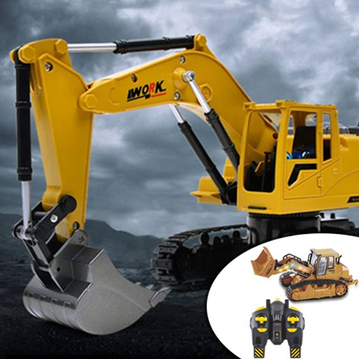 Remote Control Digger or Bulldozer Toy