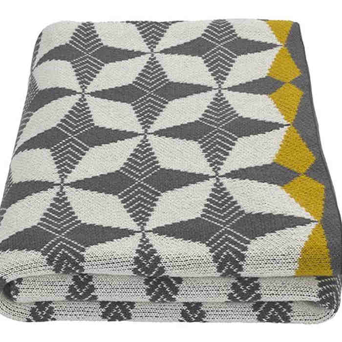 THRETR001GRY-UK_Etruria_Cotton_Knit_Throw_130x170cm_Grey_and_Chartreuse_PL