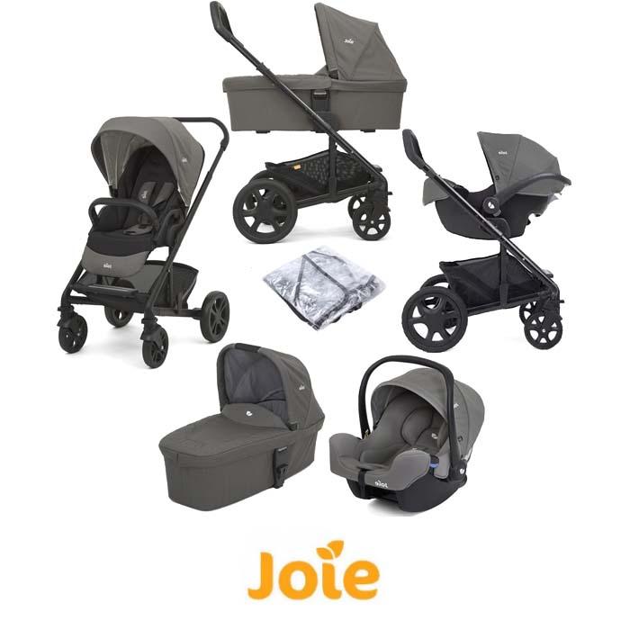 Joie Chrome Trio (I-Snug) Travel System With Carrycot