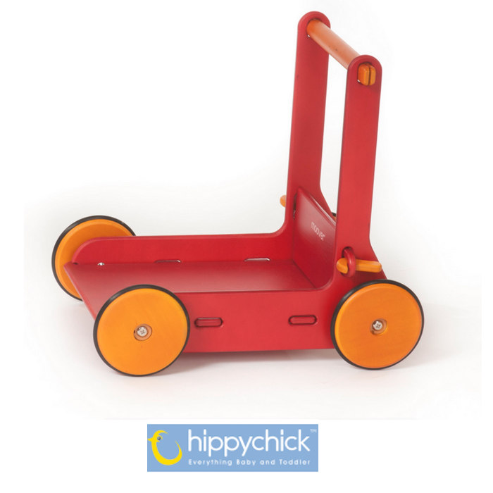 Hippychick Moover Wooden Baby Walker - Red
