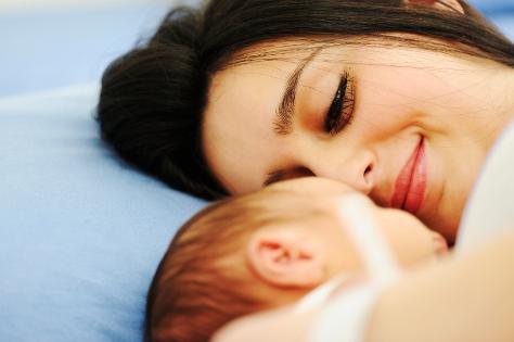 New mum with newborn