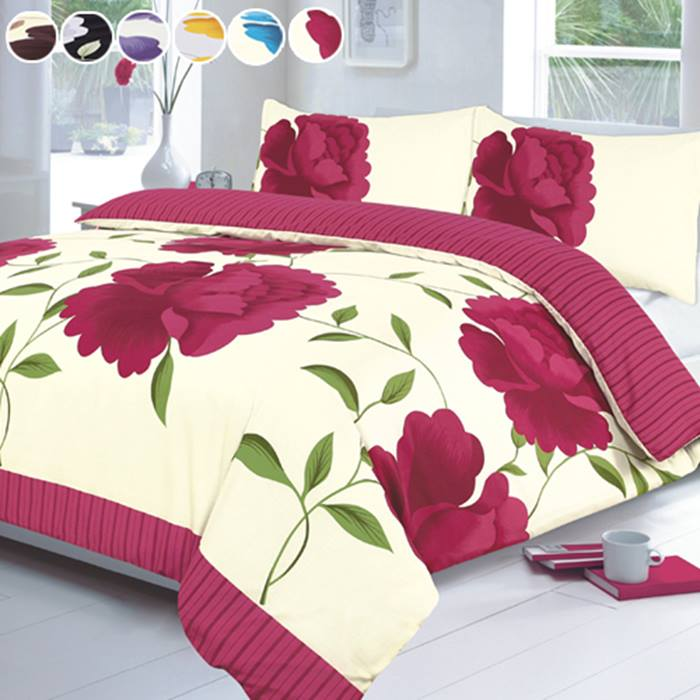 Rosaleen Duvet Cover Set - 6 Colours & 4 Sizes