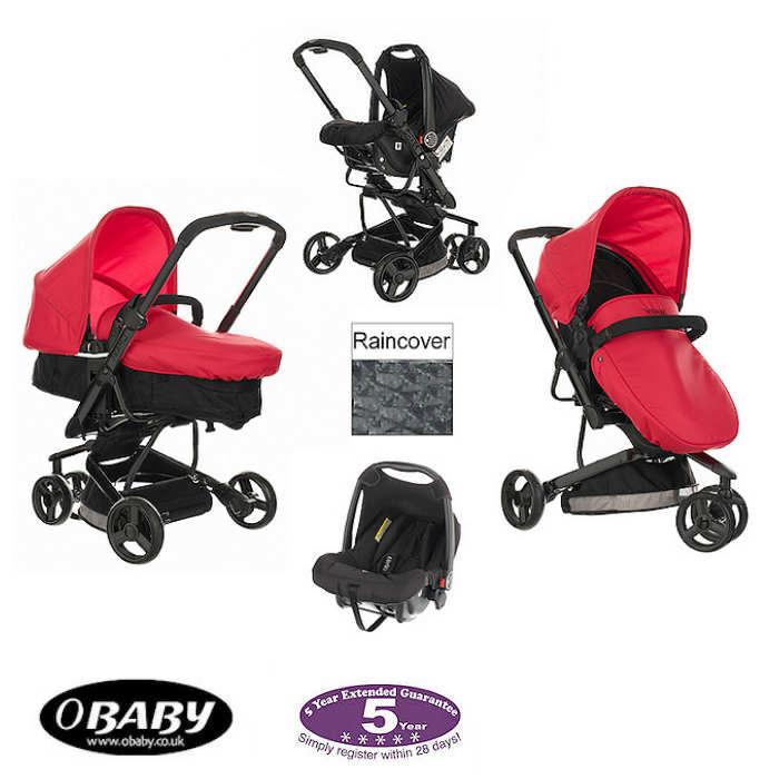 Obaby Chase Mars 3 Wheel Pramette Travel System