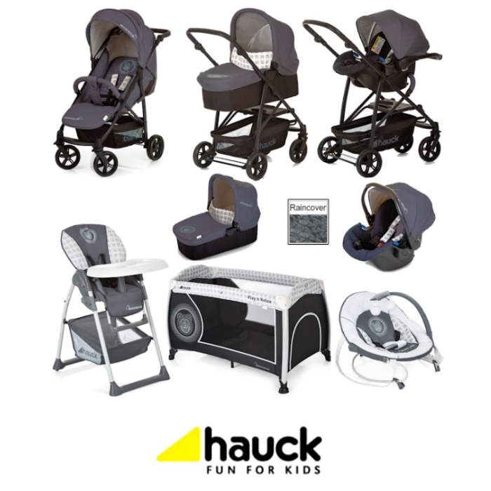 Hauck Rapid 4X Everything You Need Matching Travel System Bundle