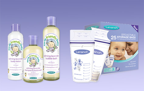 breastfeeding and bath time kit