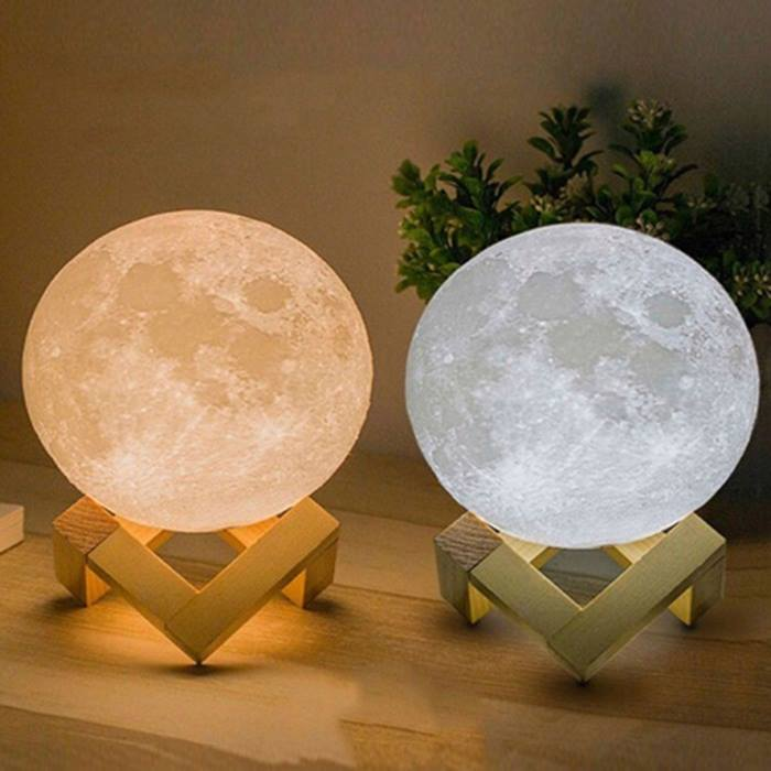 Touch Control LED 3D Moon Lamp - 5 Sizes