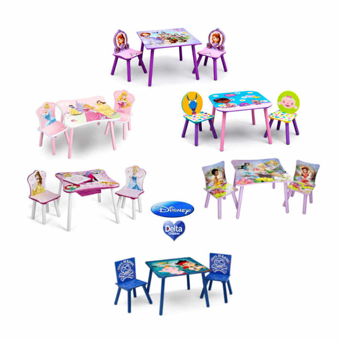 Delta Children Folding Table  Chairs Set  Disney